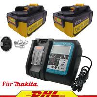 BL1850B Für Original Makita Akku 18V 5AH BL1860 BL1840 DC18RC Ladegerät mit LCD