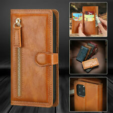 Magnetic Flip Leather Zipper Wallet Case Cover for Iphone 13 12 11 Pro Max 8 7 X
