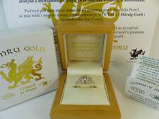 Cymru Welsh Gold, Silver & 9ct Rose Gold Celtic Blue Topaz Ring RRP £179
