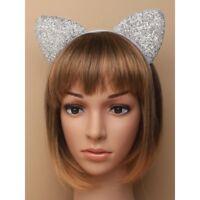 CAT EARS Hen Night Ladies Girls Hot Fancy Dress Party Flower Alice Band 721049