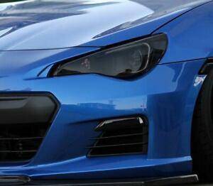 Subaru BRZ Smoked TINT Headlight Blackout Lens Precut Vinyl Decal PPF Overlay