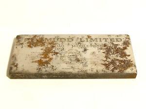 Antique P.A. Mudd Ltd. Middlesborough LIONWELD Steel Engraved Printing Block *