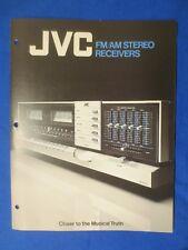JVC JR-S501 JR-S401 JR-S301 JR-S201 Receiver Sales Brochure Catalog Original