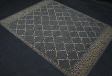 Rug 8' x 10' Transitional Handmade Pure Wool Gray Persian Style Rug New