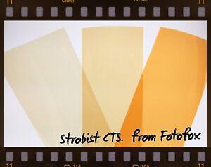 LEE FILTER PRO CT STRAW STROBIST FLASH FILTER GEL PACK x48! WITH DOTS & STRAP