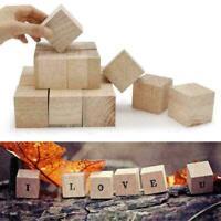 10-50mm Holzquadrat Blöcke Mini Würfel Verschönerung für Holzhandwerk DIY Y E8T1