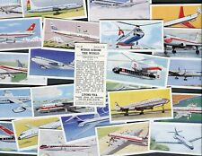"""LYONS TEA 1962 SET OF 24 """"WINGS ACROSS THE WORLD"""" TRADE CARDS"""