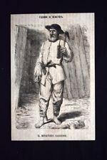 Figurini di minatori - Il minatore sassone Incisione del 1869