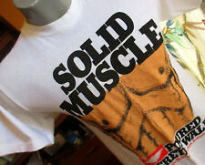 NEW DS MEDIUM True Vtg 70s ULTIMATE SILK SCREEN MUSCLE THIN INDY T-shirt USA
