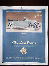 1920 Cole Aero Eight Sportster Automobile Advertisement
