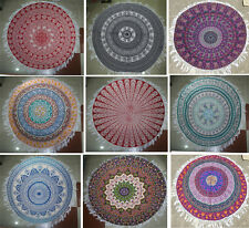 10 Wholesale Lot Indian Mandala Round Roundie Beach Throw Towel Tapestry YogaMat