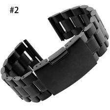 Stainless Steel Solid Link Watch Band Strap Bracelet End 18/20/22/24 mm 2018