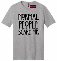 Normal People Scare Me Funny Mens V-Neck T Shirt USA TV Horror Story Gift Funny