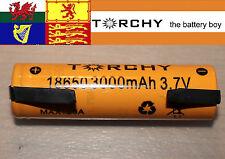 With tabs 1x 30A Torchy (Samsung 30Q) 3000mAh 18650 3.7v Li-ion battery +case