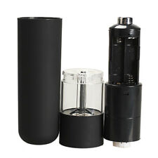 Electric Salt Spice Pepper Herb Mills Grinder with LED Light Black