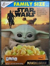NEW GENERAL MILLS FAMILY SIZE STAR WARS THE MANDALORIAN CEREAL 18.6 OZ 527g BOX