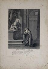 """Gravure au burin , """"St Jean de la Croix"""" , de AUDRAN"""