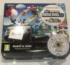 Nintendo Wii U 32GB Black Console + Super Mario Luigi Bros - Boxed Premium Pack