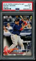 2018 Topps Factory Complete Set Rafael Devers #18 RC PSA 10 Retail Variation SP