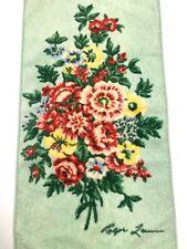 Ralph Lauren Floral Hand Guest Towel Multi Color Flowers on Mint Green