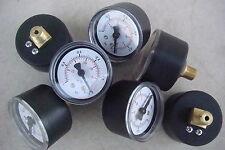 Lot de 6 Manomètre machine,Filetage Central en Laiton,Pression 1 Bar,Ø 42 mm