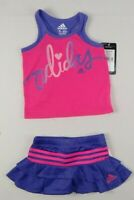 Adidas baby Girls skort set, 2-Piece shirt & Skort Set sz 3 months