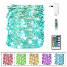 Minetom USB Fairy String Lights, 33Ft 100 LED Waterproof Color Changing Twinkle