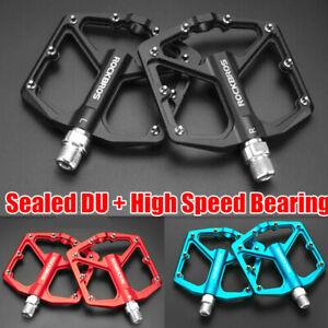 ROCKBROS Cycling Aluminum Bicycle Pedal MTB Road Bike Pedal Sealed Bearings 300g