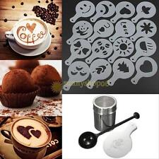 Chocolate Shaker Duster 16x Cappuccino Coffee Barista Stencils Measure Spoon New