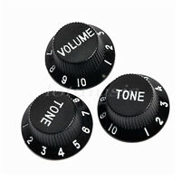 Black Guitar Knob Volume Tone Control Knob For Fender Strat ST Strat Parts