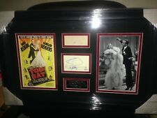 FRED ASTAIR and GINGER ROGERS  Vintage Signed Montage AFTAL