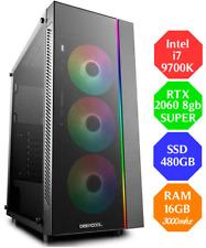 Gaming PC Intel I7-9700k Nvidia RTX 2060 8GB SUPER SSD480 Ram 16GB RGB Win 10
