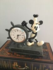 More details for disney steamboat willy 80th anniversary of steamboat willy figurine/clock