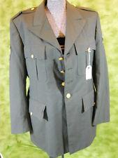 US Army Military green Dress uniform Jacket / Coat class A size 39R   T699