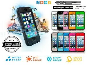 CUSTODIA COVER DI ALTISSIMA QUALITA' WATERPROOF IMPERMEABILE PER IPHONE 5 5S