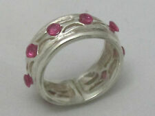 Handmade Vintage 925 Sterling Silver Ring Size 7 with Natural Ruby