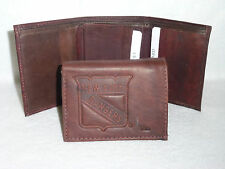 New York NY RANGERS   Leather TriFold Wallet     NEW     dkb z+