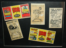 Foldees by Topps 3pc Original Artwork - Elvis Presley - 1962 art by Wally Wood