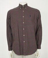 Polo Ralph Lauren Oxford Red Plaid Button Front Shirt Mens Medium