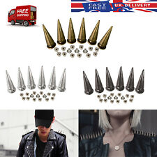 29x10mm Spike Punk Cone Studs Rivets for DIY Leather Crafts Clothes Shoes 100pcs