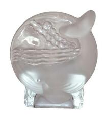 PartyLite Whale Tea Light Candle Holder - Frosted/Clear B1935