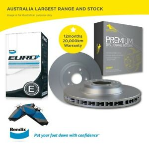 Front Bendix Brake Pads and Rotors for VW JETTA 1.9TD 2.0TD 2.5TD 2006 -