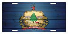 VERMONT STATE Flag Custom License Plate AMERICAN Emblem WOOD Version