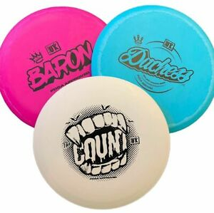 Disc Golf UK Starter Set with 3 Discs Frisbee Golf - Made in UK PDGA Approved