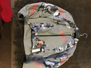 AlpineStar Gray Camo Motorcycle Jacket