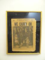 Vintage New York Daily News November 26 1963 JFK Kennedy Wood Framed Newspaper