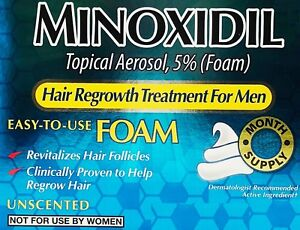 Kirkland Minoxidil 5% Men Hair Regrowth Treatment (FOAM)1-6 Months -CHOOSE YOURS