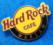 WARSAW POLAND RED LINE CIRCLE CLASSIC LOGO 4 LINES PICK HOLO Hard Rock Cafe PIN
