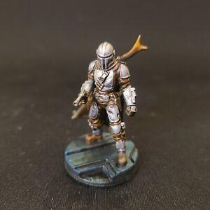 Custom Star Wars Legion The Mandalorian Miniature 3D printed with blaster