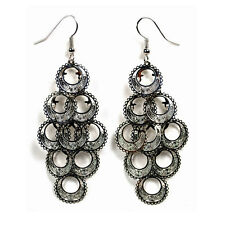 SHIMMERING DANGLE EARRING PAIR Circle Chandelier Gypsy Arabic NEW Hook Jewelry
